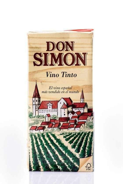 DON SIMON RED WINE VINO TINTO TETRA PACK 500ML