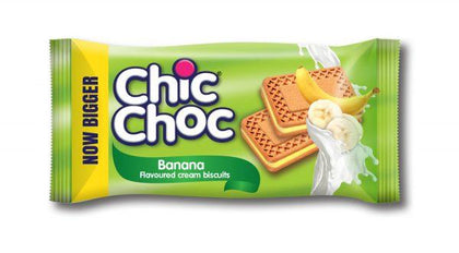 CHIC CHOC FLAVOURED CREAM BISCUITS 14G