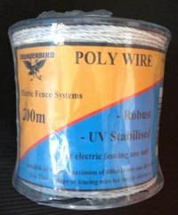 Poly Wire 200m No 40EW White