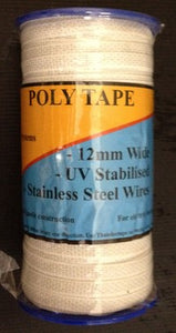 Poly Tape  200m No 40BW White