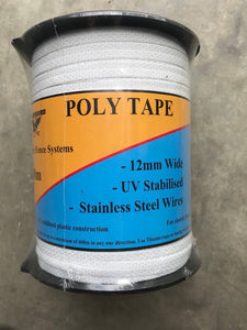 Poly Tape 400m No 40CW White