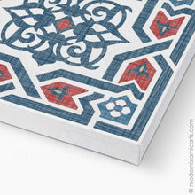 Load image into Gallery viewer, Arabesque Islamic Pattern Decor Islamic Wall Art in Red-Blue  Framed Canvas