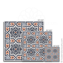 Load image into Gallery viewer, Islamic Pattern Decor Islamic Canvas Orange-Black Arabesque Unframed