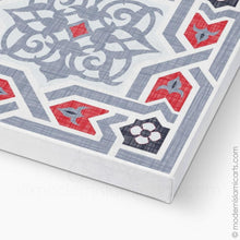 Load image into Gallery viewer, Islamic Pattern Decor Islamic Canvas Grey-Red Arabesque Unframed
