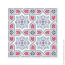 Load image into Gallery viewer, Islamic Canvas of Islamic Pattern Decor in Grey-Red Arabesque Canvas
