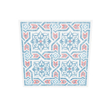 Load 3D model into Gallery viewer, Islamic Pattern Decor | Red-Blue | Arabesque Islamic Wall Art