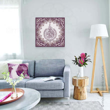 Load image into Gallery viewer, Ayatul Kursi Islamic Canvas Purple Islamic Pattern Unframed