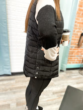 Load image into Gallery viewer, Black Quilted Vest