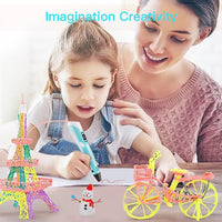 3D Printing Drawing Pen for Kids and Adults With 10 Color Filaments