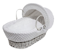 Load image into Gallery viewer, Kinder Valley Dimple White on white Wicker- Personalised by Babbabox - Babba box