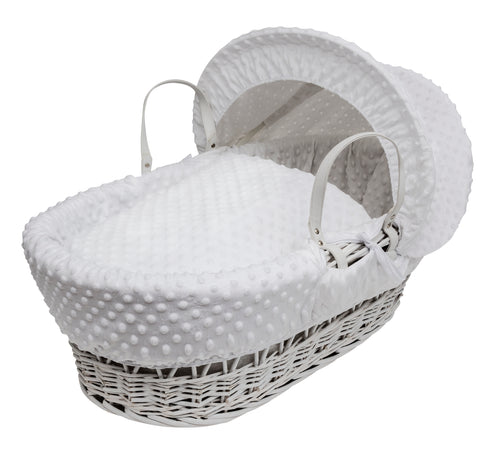 Kinder Valley Dimple White on white Wicker- Personalised by Babbabox - Babba box