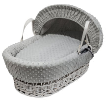 Load image into Gallery viewer, Kinder Valley Dimple Grey on White Wicker- Personalised by Babbabox - Babba box