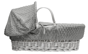 Kinder Valley Dimple Grey on White Wicker- Personalised by Babbabox - Babba box