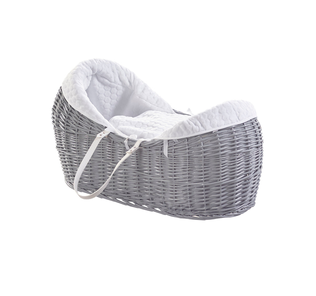 Kinder Valley Honeycomb white with Grey Wicker Pod- Personalised by Babbabox - Babba box