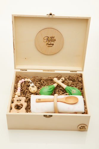 Prince & Princess 2: Personalised Wooden Keepsake Memory Box by Babba Box Co Royalty range - Babba box