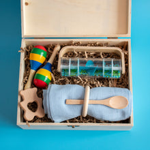 Load image into Gallery viewer, Personalised Wooden Keepsake Memory Box Prince and Princess 1