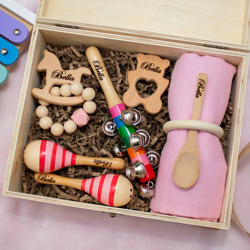 Prince & Princess 3: Personalised Wooden Engraved Prince & princess box 3 by Babbabox co - Babba box