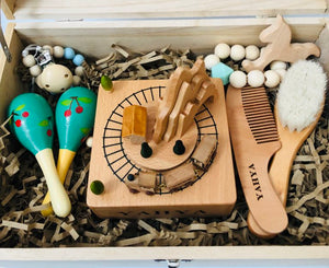 Personalised Wooden Engraved Musical train carousel box by Babbabox co - Babba box