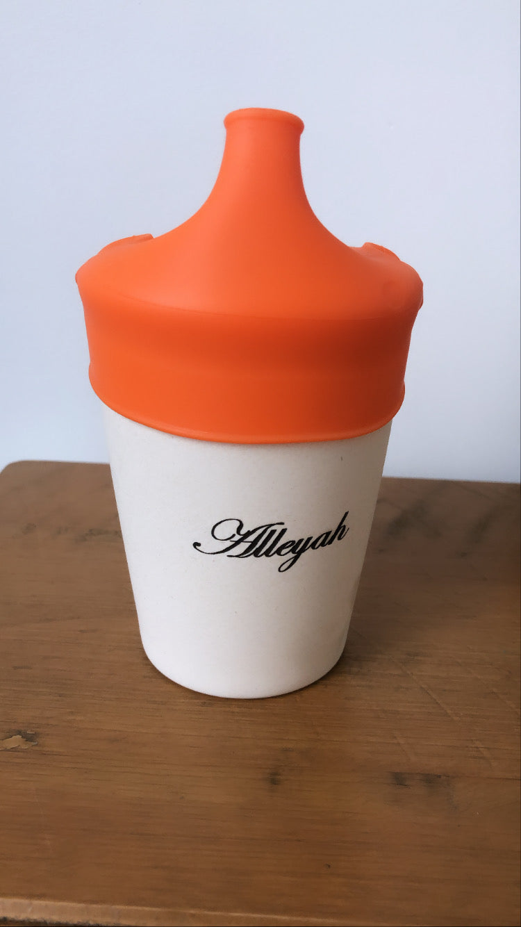 Personalised Toddler Cup Orange - Babba box