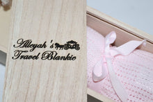 Load image into Gallery viewer, Personalised Travel Blanket Box with Blanket by Babbabox- Pink - Babba box