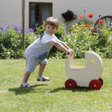 Load image into Gallery viewer, Moover Wooden Pram -Natural Personalised by Babbabox co - Babba box