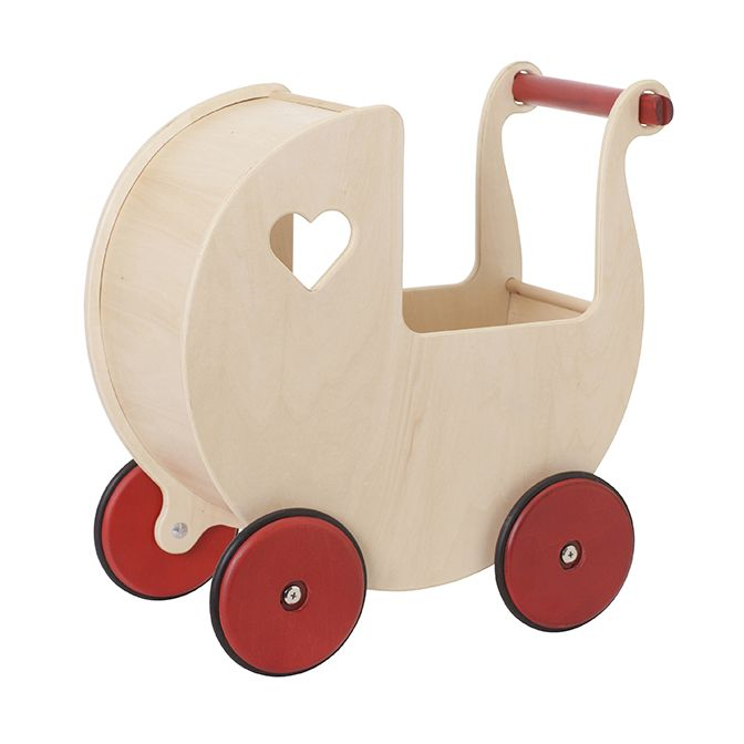 Moover Wooden Pram -Natural Personalised by Babbabox co - Babba box