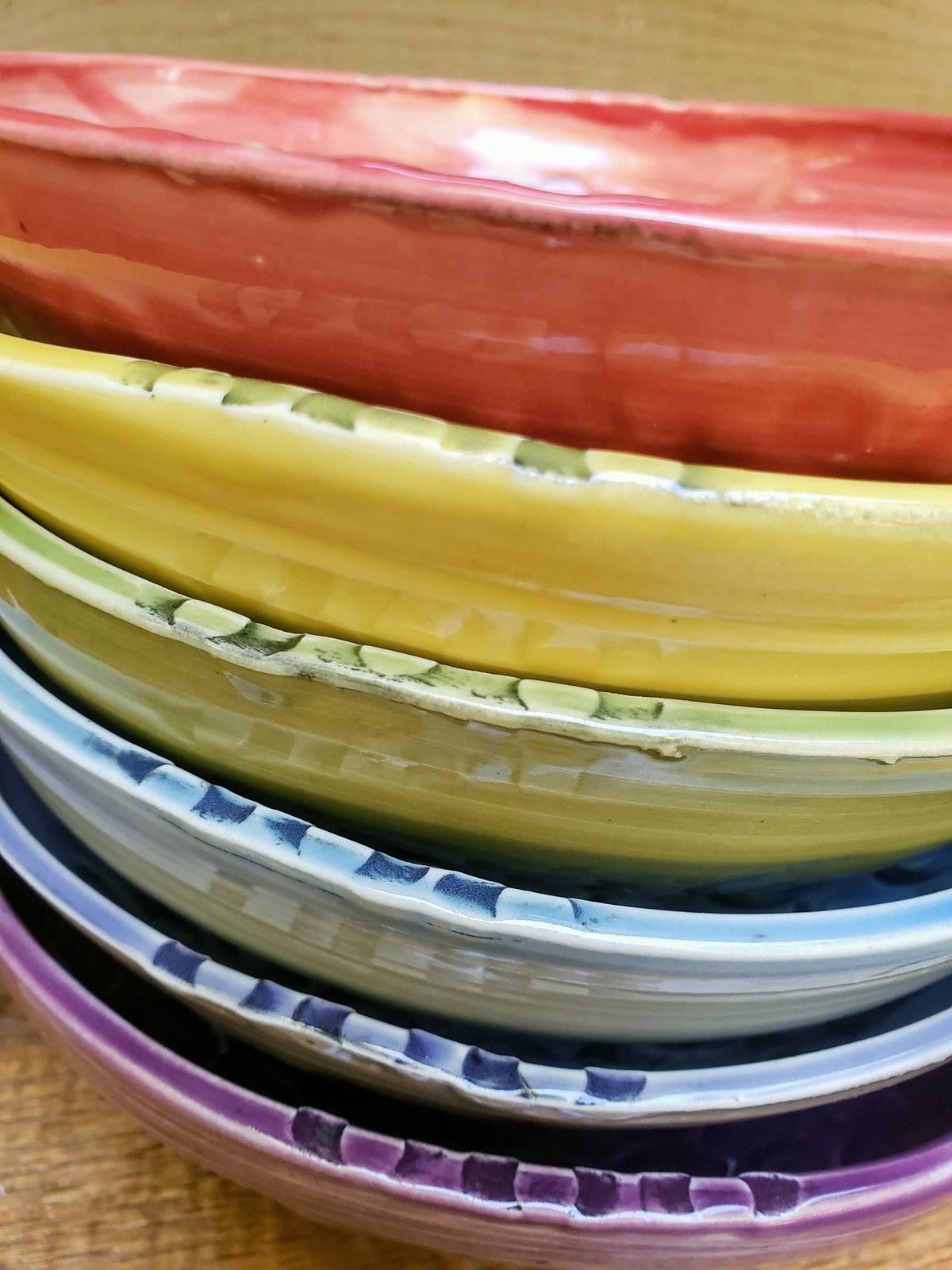 Rainbow Bowls- set of 6