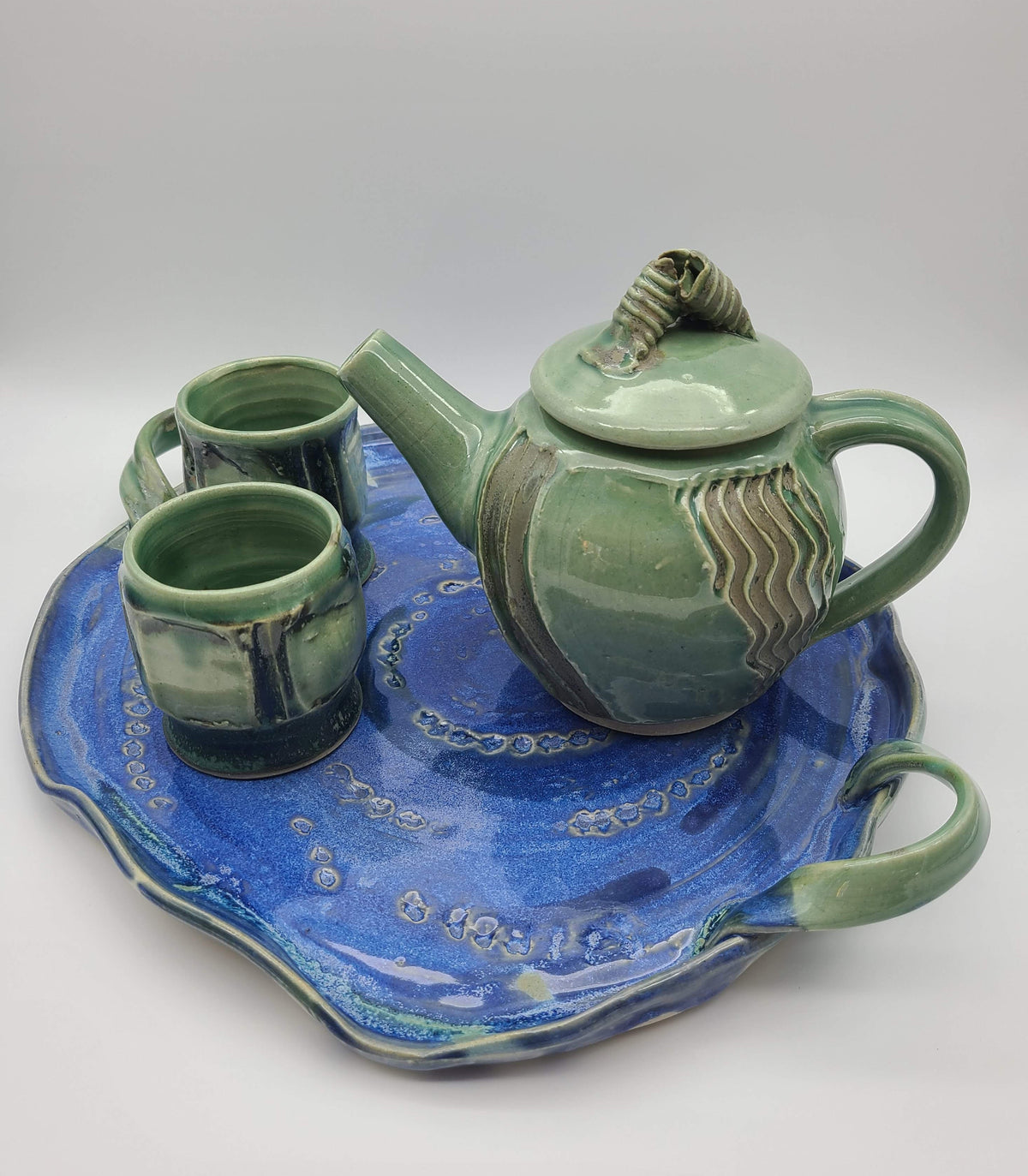 Pottery Teacups - Reflection and Ripples