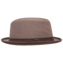 Load image into Gallery viewer, LaRay | Breathable Mesh Leather Fedora Hat
