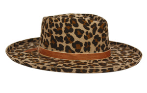 Armani | Wide Brim Fedora Hat with Pencil Curl Brim