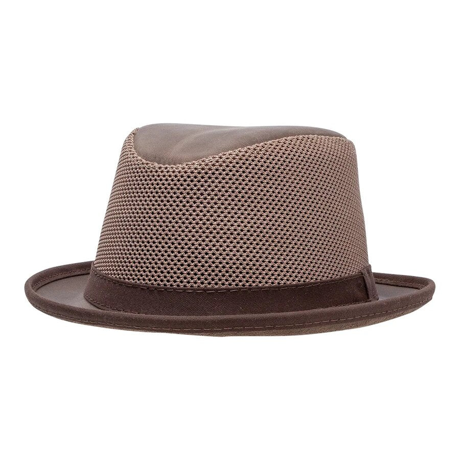 LaRay | Breathable Mesh Leather Fedora Hat