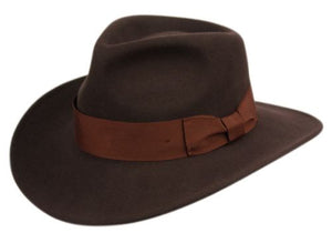 Monroe | Wool Felt Indy Fedora Brown
