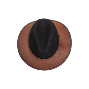 Josey | Outback Leather Fedora Hat Top View