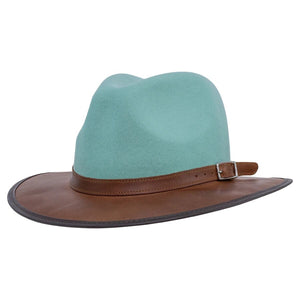 Josey | Outback Leather Fedora Hat