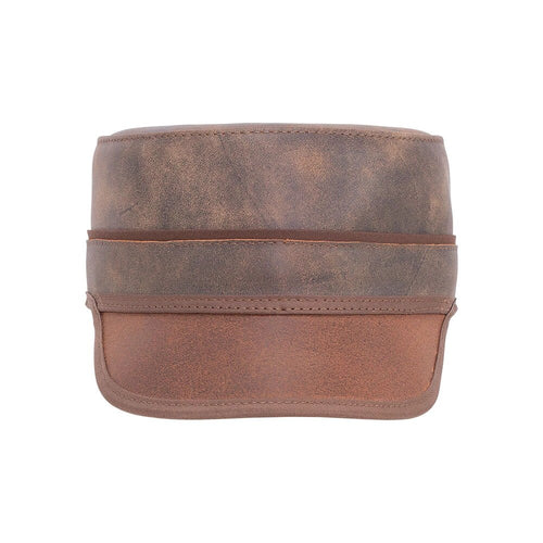 Niko | Leather Rocker Cap
