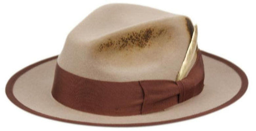 Wynton | Distressed Wool Felt Fedora Hat