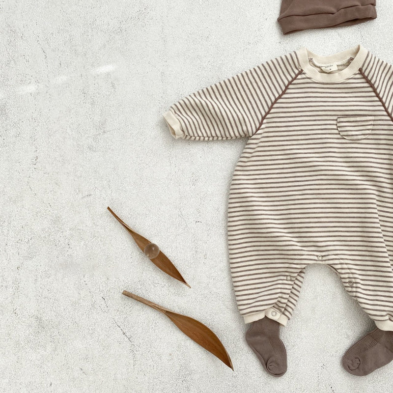Kelly Striped Jumpsuit - Cocoa