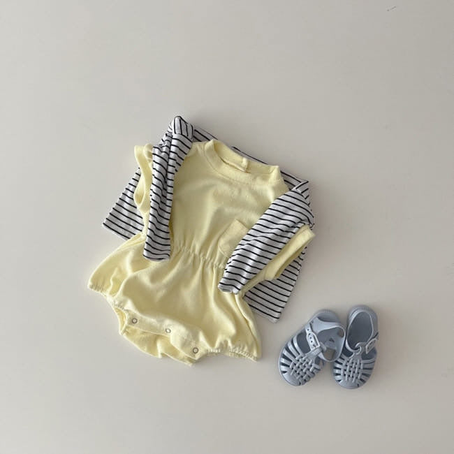 Terry Towel Romper - Yellow