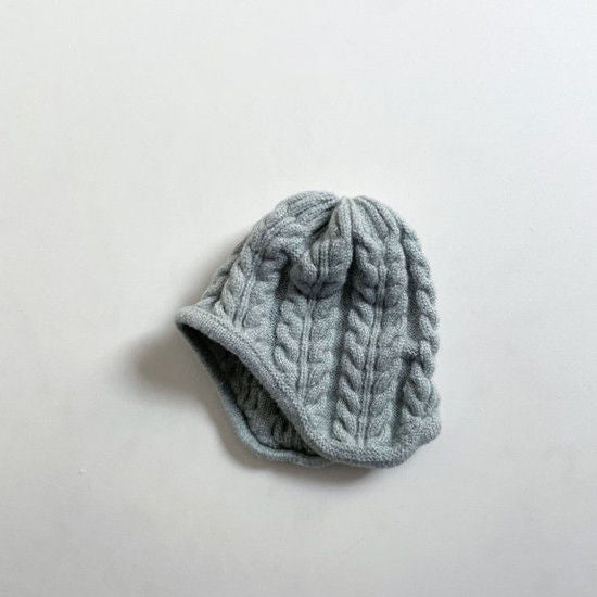 Knit Warm Beanie - Dusty Blue