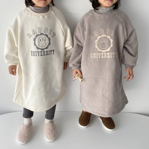 Rabbit Uni Oversized Sweat Dress - Grey