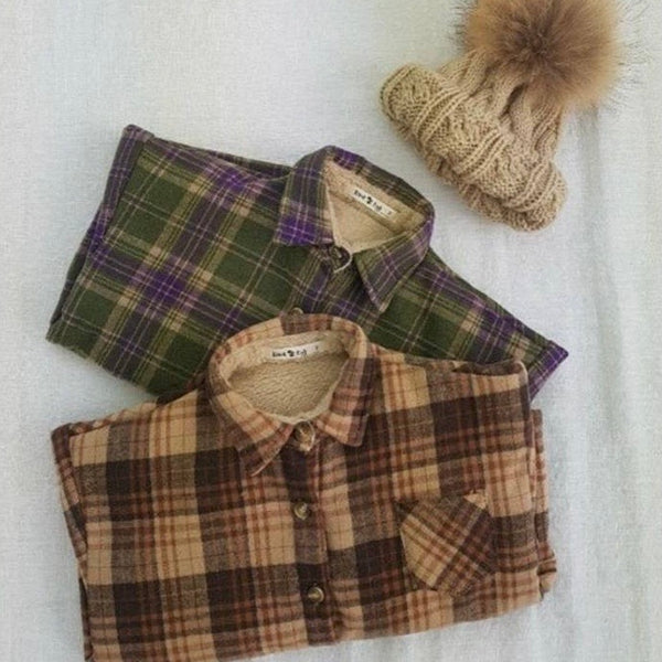 Plaid Shacket - Green