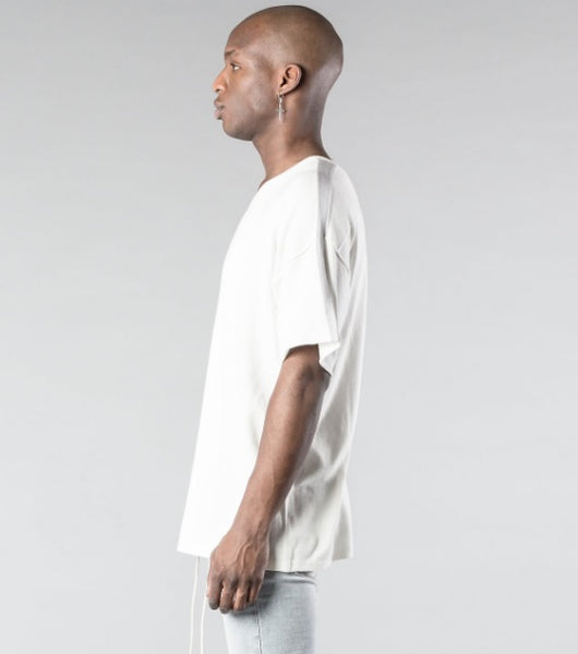 Kollar The Stripe Knit Tee - White - Rare Boutique LLC