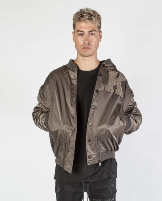Kollar Collegiate Bomber-Emerald Green - Rare Boutique LLC