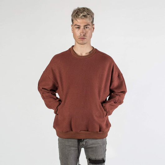 Kollar Signature Crewneck - Red Wine - Rare Boutique LLC