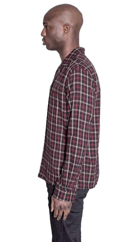 Kollar The Logo Flannel - Red/Black - Rare Boutique LLC