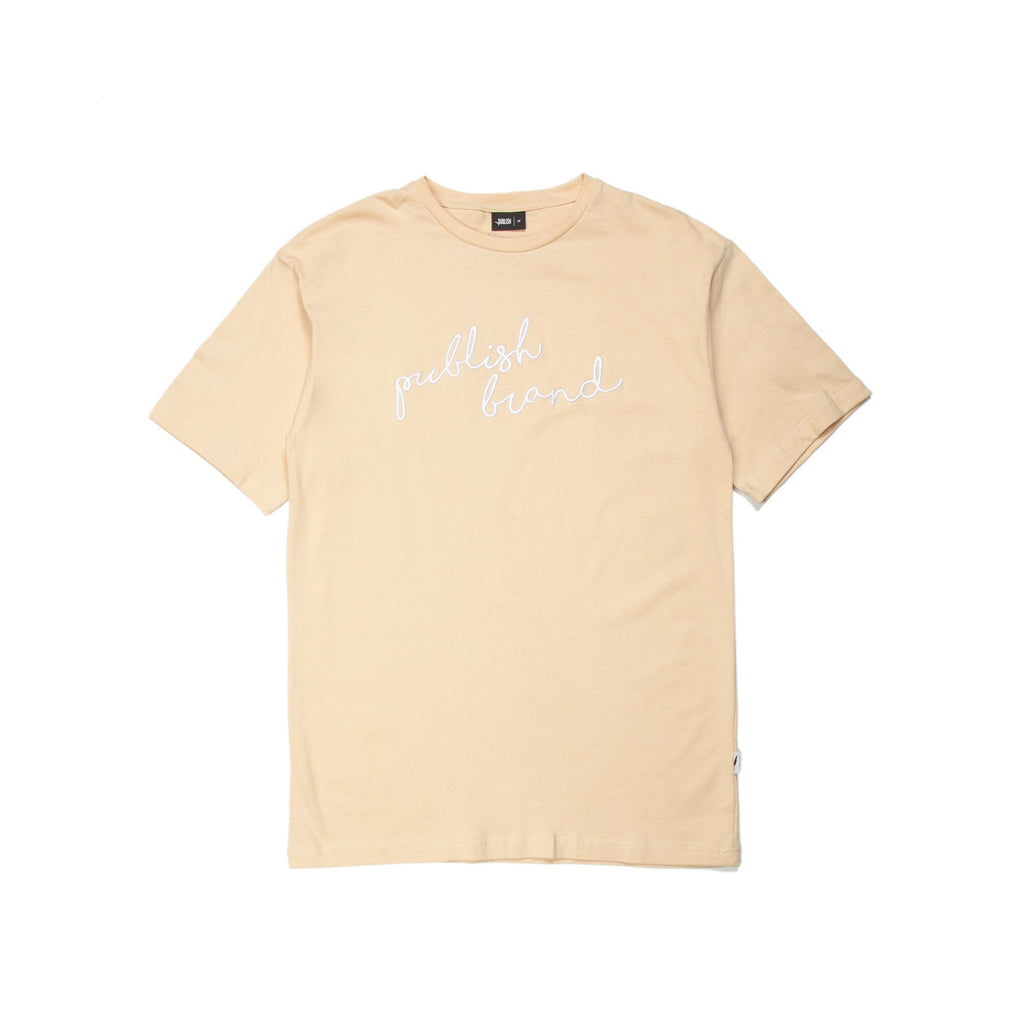 Publish Brand Scripted Tee - Natural