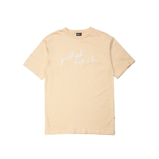 Publish Brand Scripted Tee - Natural - Rare Boutique LLC