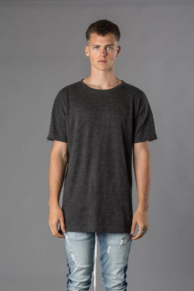 Kollar The Waffle Tee / Charcoal - Rare Boutique LLC