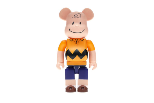 Bearbrick Charlie Brown 400% Yellow - Rare Boutique LLC