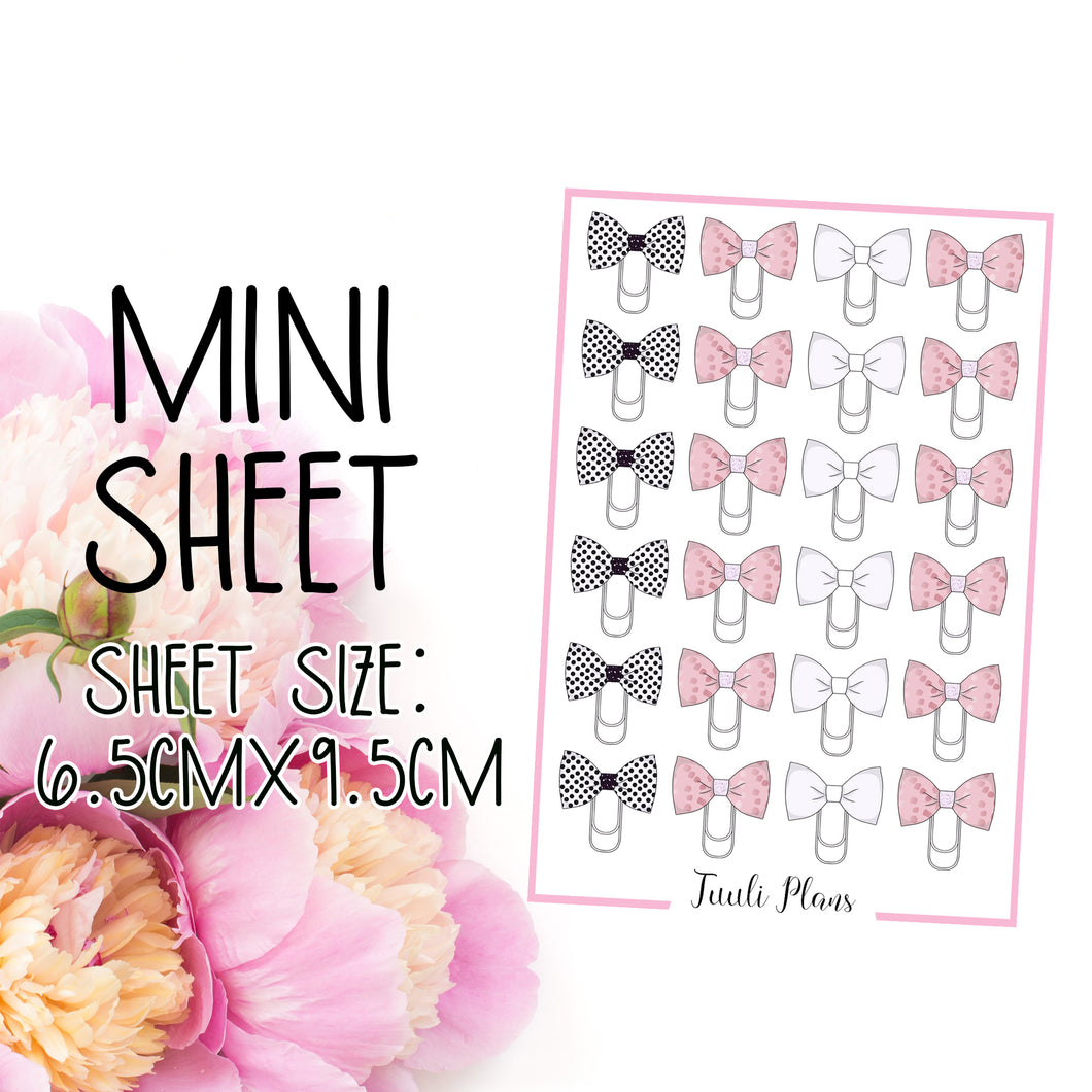 Mini sheet: bow clips